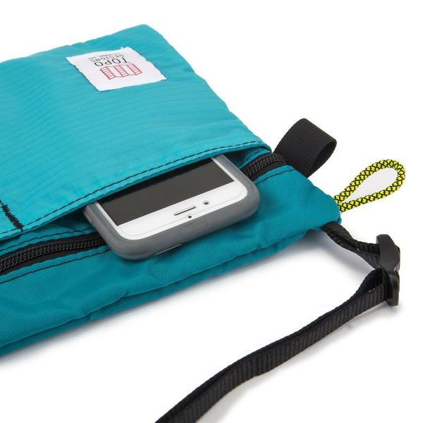 Topo Accessory Shoulder Bag White/Turquoise