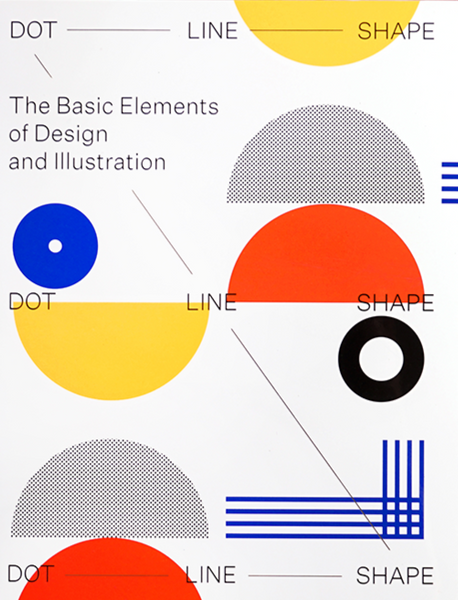 Dot Line Shape. The Basic Elements of Design and Illustration