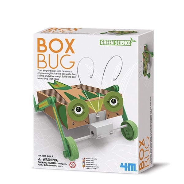 Box Bug. Green science bicho inteligente