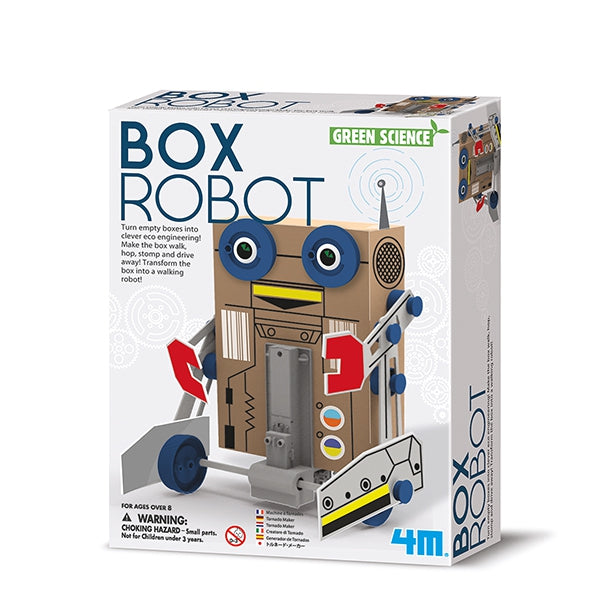 Box Robot. Green science robot inteligente