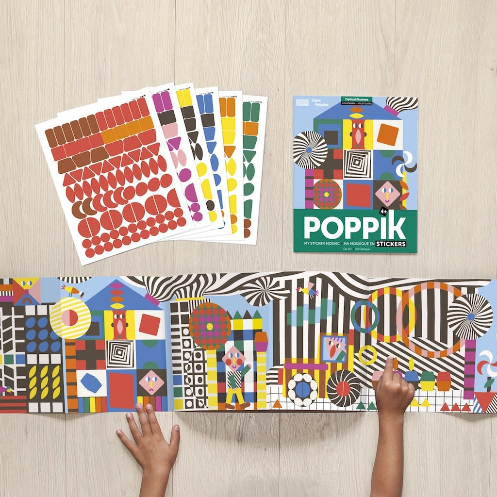 Puzzle de Pegatinas Poppik Optical Art