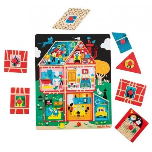 Puzzle encajable casa - Moulin Roty