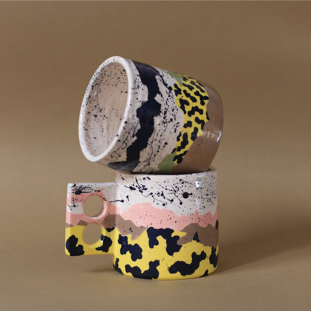 Safari Mug Yellow/Brown/Pink  - Minx Factory & Borneo