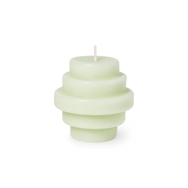 Candle Sculpture Templo Ash Green