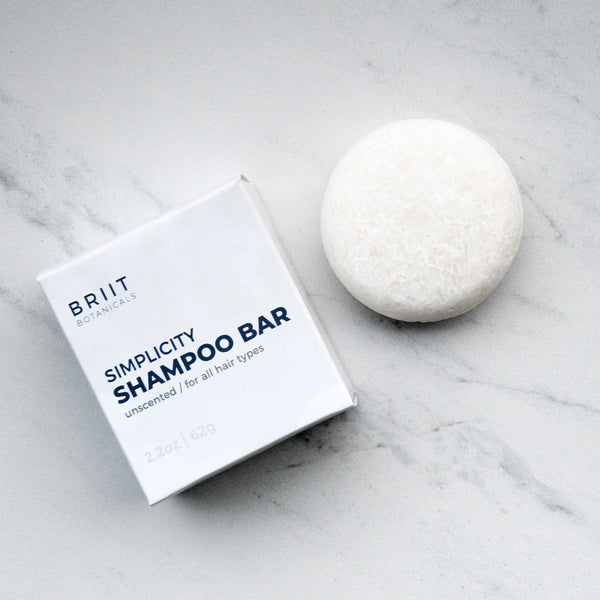 Simplicity Unscented Shampoo Bar: For All Hair Types