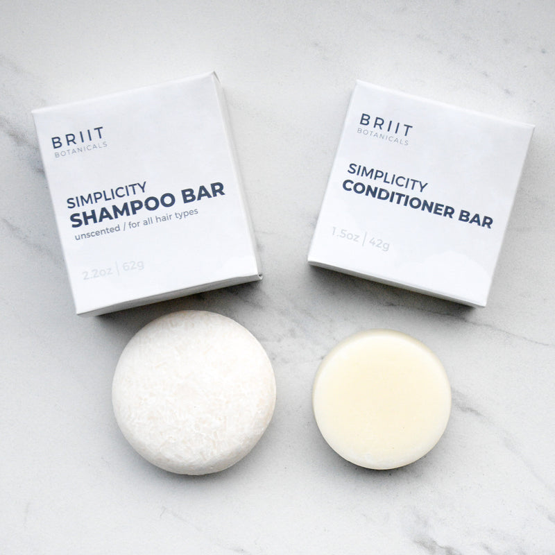 Simplicity Unscented Shampoo and Conditioner Bar Set: For All Hair Types