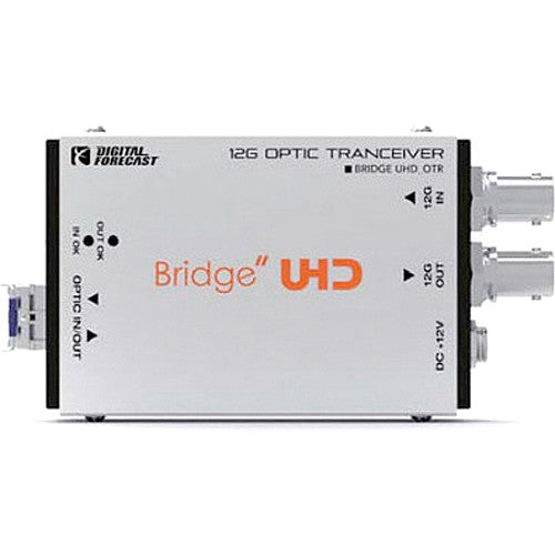 DIGITAL FORECAST Bridge UHD OTR Bidirectional 12G Optic Transceiver
