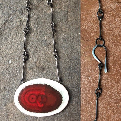 Horizontal Oval Chain Necklace