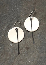 Load image into Gallery viewer, Small Circle Earrings with Metal Tassel