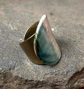 Curved Statement Ring