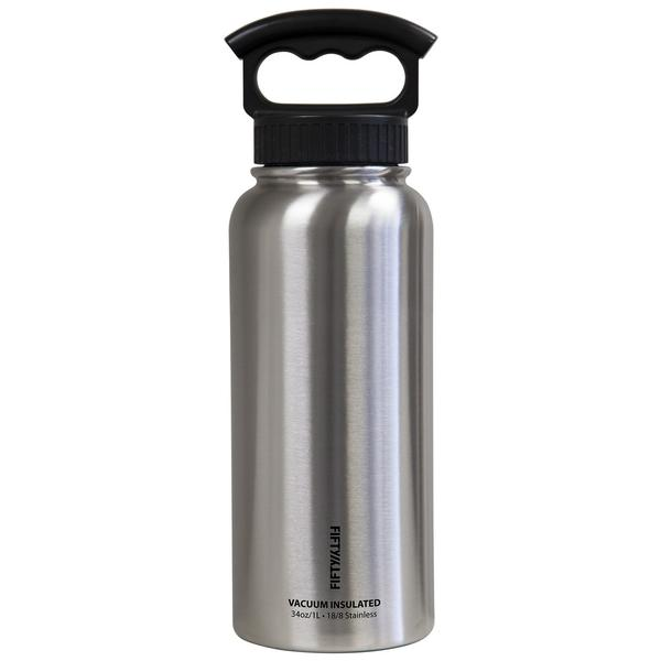 34oz Water Bottle - 3 Finger Lid