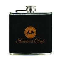 6 oz. Black Velvet/Gold Stainless Steel Flask