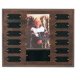 "Perpetual Plaque - 12 Plates w/ 4"" x 6"" Photo Holder"