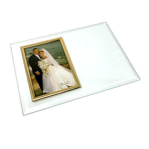 Beveled Glass Picture Frame