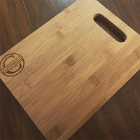 "Bamboo Rectangle Cutting Board - 11 1/2"" x 8 3/4"""