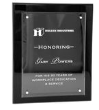 "Piano Finish Plaque with Magnetic Acrylic - Black - 9"" X 12"""