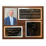 LDS Missionary Plaque - 4 panel w/gold backing