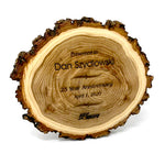 Old West Log Elmwood Plaque - 9""