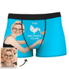 Men's Custom Face On Body Boxer Shorts - This belong to me