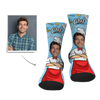 Father's Day Personalized Face Socks - Super Chef - Gesichtsocken
