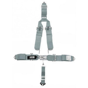 "5 POINT BELT W/""Y"" HARNESS,GREY"