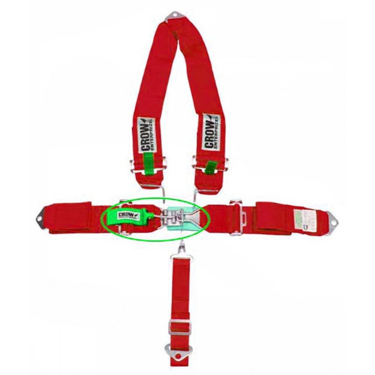 "5 POINT BELT W/""V"" HARNESS,RED"