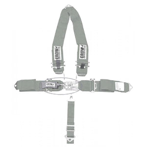 "5 POINT BELT W/""V"" HARNESS,GREY"