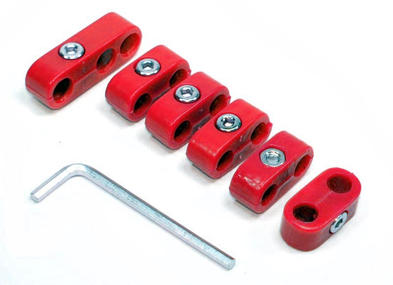 RED SPARK PLUG WIRE SEPARATORS