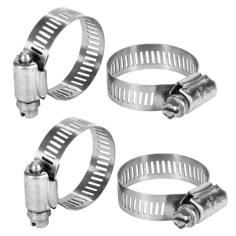 "HOSE CLAMPS, 1/4"" AND 5/16"" HOSE, PACK OF 4"