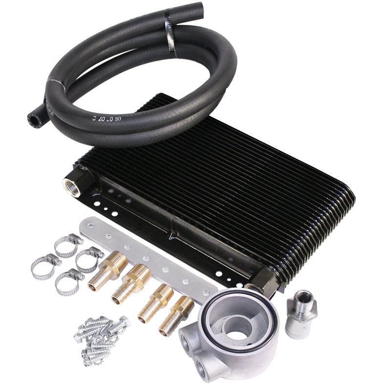 MESA TRU COOL 48 PLATE OIL COOLER KIT WITH SANDWICH ADAPTER
