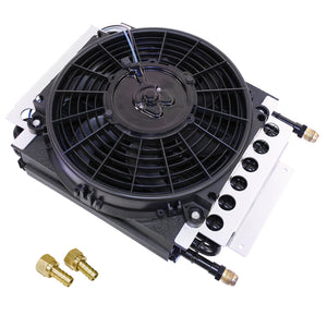 HI-PERFORMANCE 16 PASS COPPER TUBE OIL COOLER KIT WITH ELECTRIC FAN