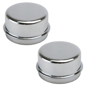 CHROME WHEEL CAP FOR DUNE BUGGY SPINDLE MOUNT WHEEL, PAIR