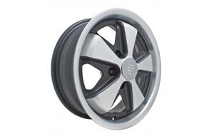 911 Fuch Style Wheel Silver & Black 17 x 7 - For 5x112 Bolt Pattern