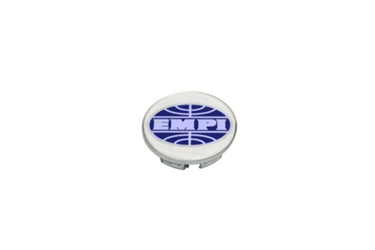 CHROME PLASTIC CAP FOR BRM, NEW BEETLE ONLY, EMPI LOGO, EA