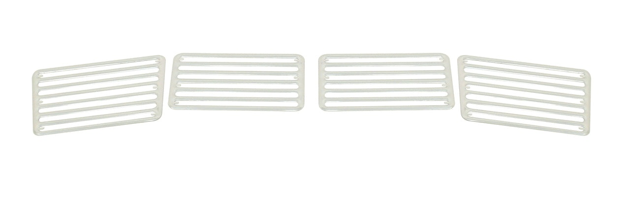 4-PIECE GRILLE SET, ALUM., TYPE1