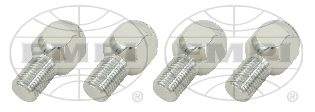 CHROME LUG BOLTS - M14-1.5, 20.5mm LONG (SET OF 4)