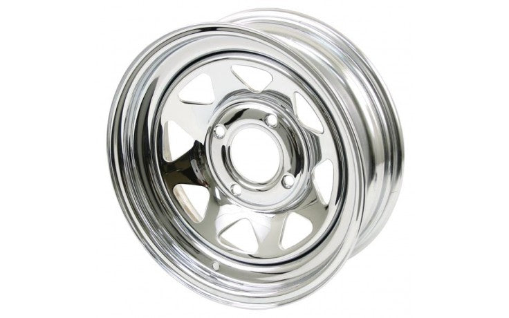 "CHROME SPOKE 4 LUG, 8"" WIDE"