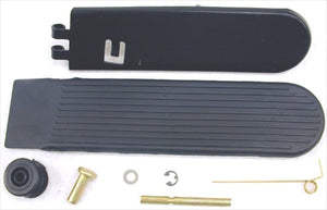 COMPLETE ACCELERATOR PEDAL KIT - WITH METAL PEDAL - COVER - ROLLER - PINS AND CLIPS - BEETLE/GHIA 67-79 / TYPE-3 64-73