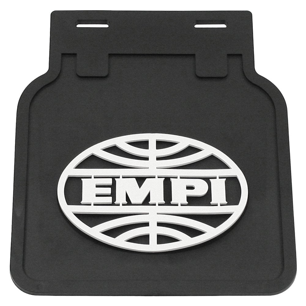 EMPI MUDFLAP BLACK/WHITE BUG, PAIR