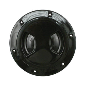 PLASTIC FUEL FILLER / GAS CAP COVER - 6 BOLT FLANGE WITH FLUSH SCREW-IN COVER