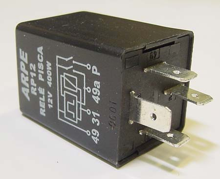 VWC-211-953-215-C - (211953215C) (BRAND MAY VARY) TURN SIGNAL FLASHER RELAY 12 VOLT 4 PRONG - BEETLE 68-70 / GHIA 68-71 / BUS 68-70 / TYPE-3 68-70 - SOLD EACH