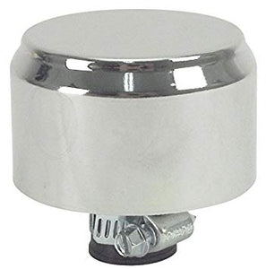 CHROME GAUZE MINI BREATHER FILTER WITH SHIELD, EACH