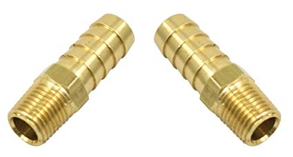 "FITTINGS FOR EMPI FILTER FLOW OIL PUMPS 1/4"" MALE NPT X 1/2"" HOSE BARB"