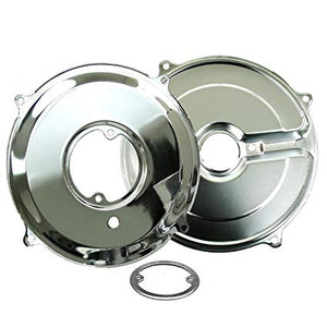 ALTERNATOR / GENERATOR BACKING PLATE KIT CHROME