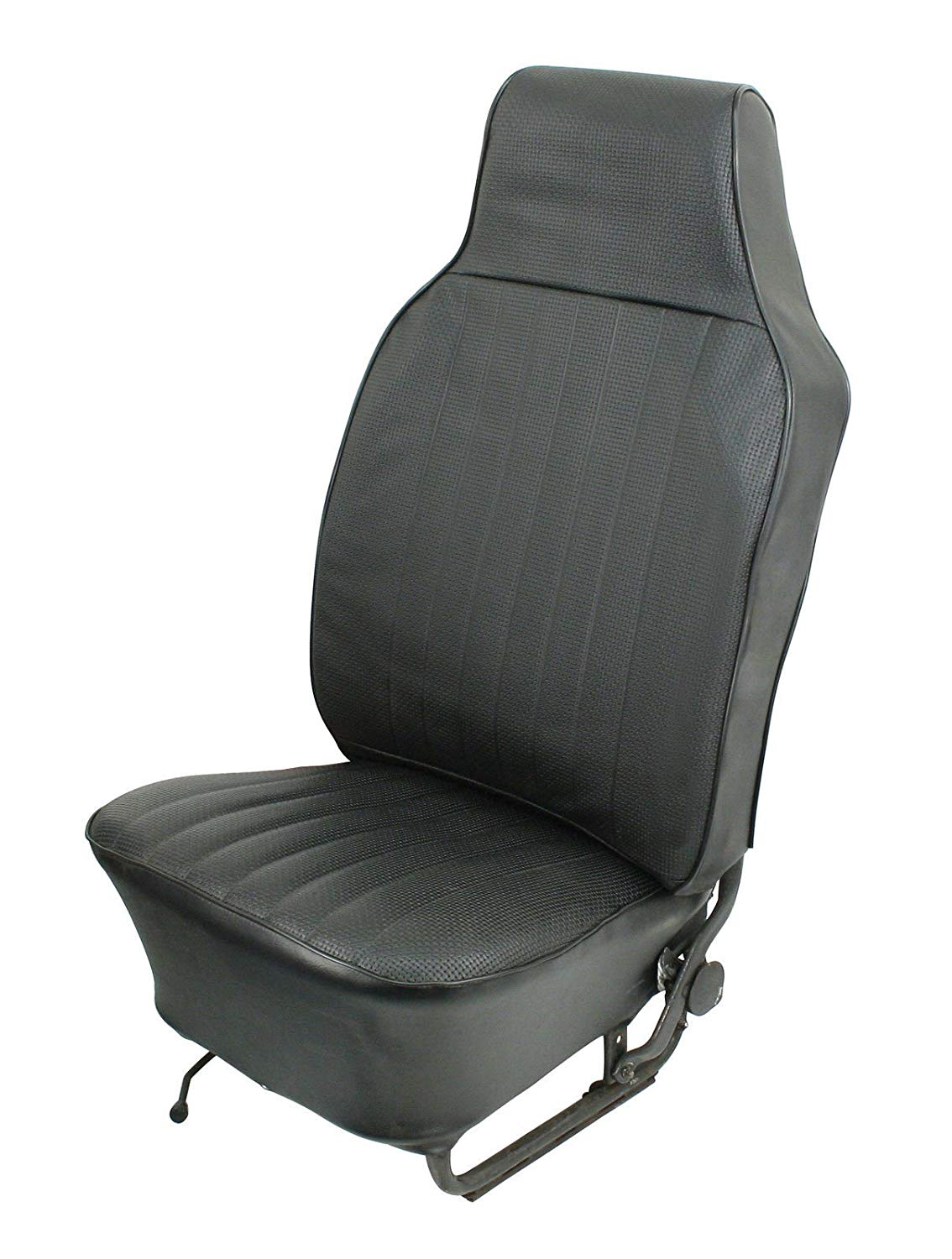 VW Bug Vinyl Seat Cover, Complete Set, Slip On Style, Black, Sedan 58-64
