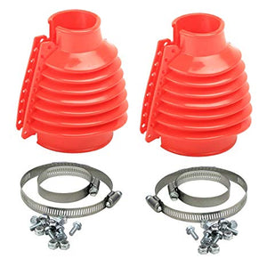 DELUXE RED VW SWING AXLE BOOT KIT PAIR