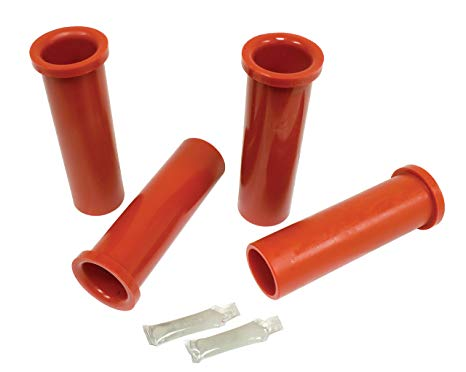 FRONT AXLE BEAM URETHANE BUSHINGS, 1955-63 TYPE 2 BUS, RED, SET OF 4