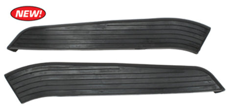 Step Pad Rubbers for Baywindow Front Bumpers, VW Type 2 Bus 1968-1972, Pair