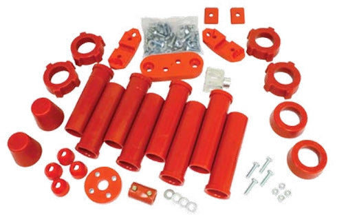 URETHANE TOTAL SUSPENION REBUILD KIT,TYPE 1, 1959-1965, RED
