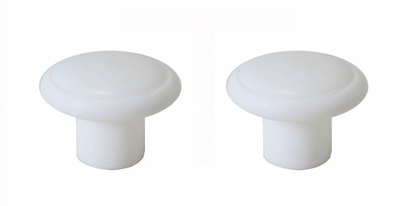 ROUND COAT HOOK, WHITE, SET OF 2, BUS 1963-79, VANAGON 1980-91 *MADE BY WCM*